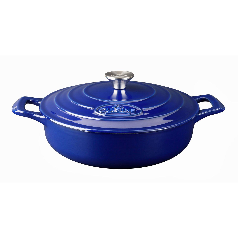 La Cuisine LC 2679MB PRO 5-Piece Enameled Cast Iron Cookware Set in High Gloss Sapphire (Round Casserole), by La Cuisine (Image #1)