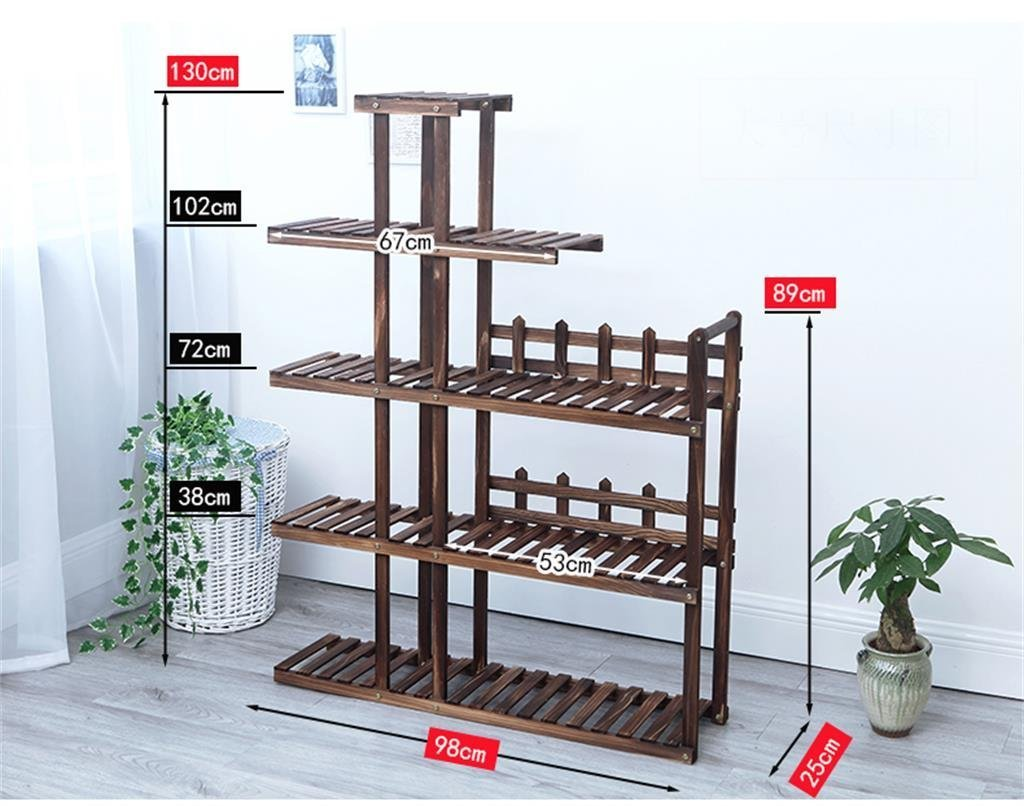 GRY Holz Multilayer Bodentöpfe Regal Holz Bonsai Terrasse Balkon Wohnzimmer Wohnzimmer Wohnzimmer Indoor Grün Flower Blumenständer fc7ef0