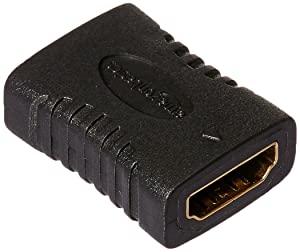 AmazonBasics HDMI Coupler, 29 x 22mm, Black