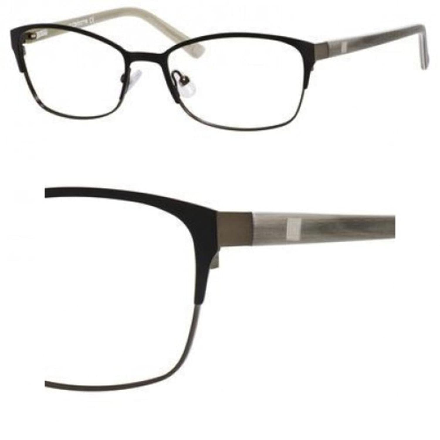 Amazon.com: LIZ CLAIBORNE Eyeglasses 605 0Ef8 Black Ruthenium 53MM ...