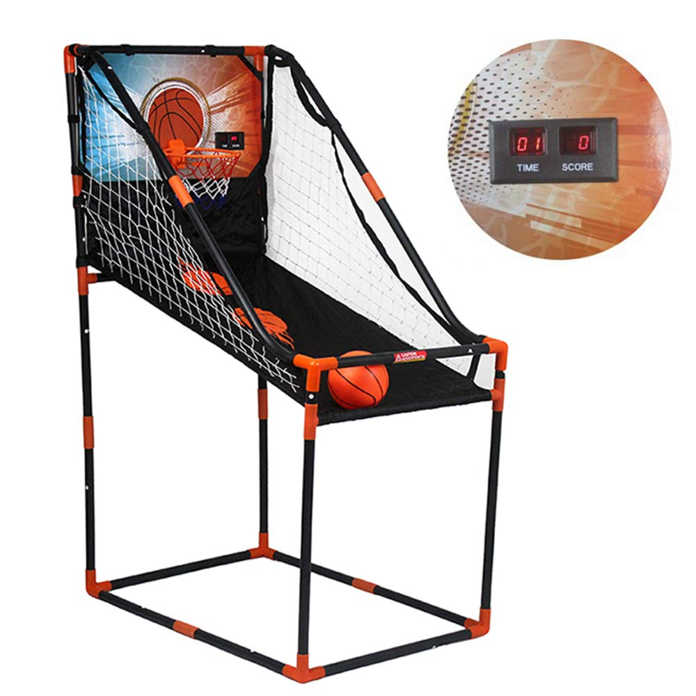 Electronic Basketball Stand Kids Arcade Game Basketball Hoop Net Indoor Shooting System Single//Double Mode