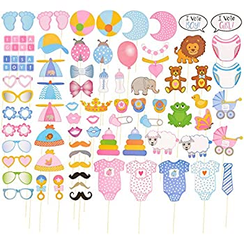 image relating to Free Printable Baby Shower Photo Booth Props identified as Kid Shower Photograph-Booth Props -72-Pack Youngster Shower Selfie Props, Baby Image Props - Boy or girl Boy or Lady Gender Make clear Occasion Favors and Components,