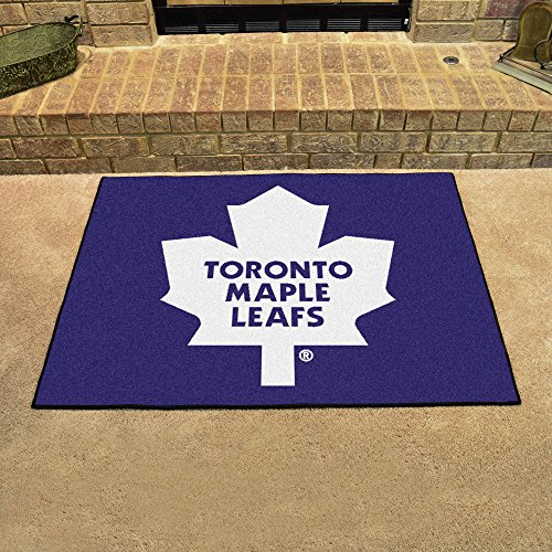 NHL Toronto Maple Leafs Chromo Jet Printed Rectangular Area Rug Floor Mat 45""