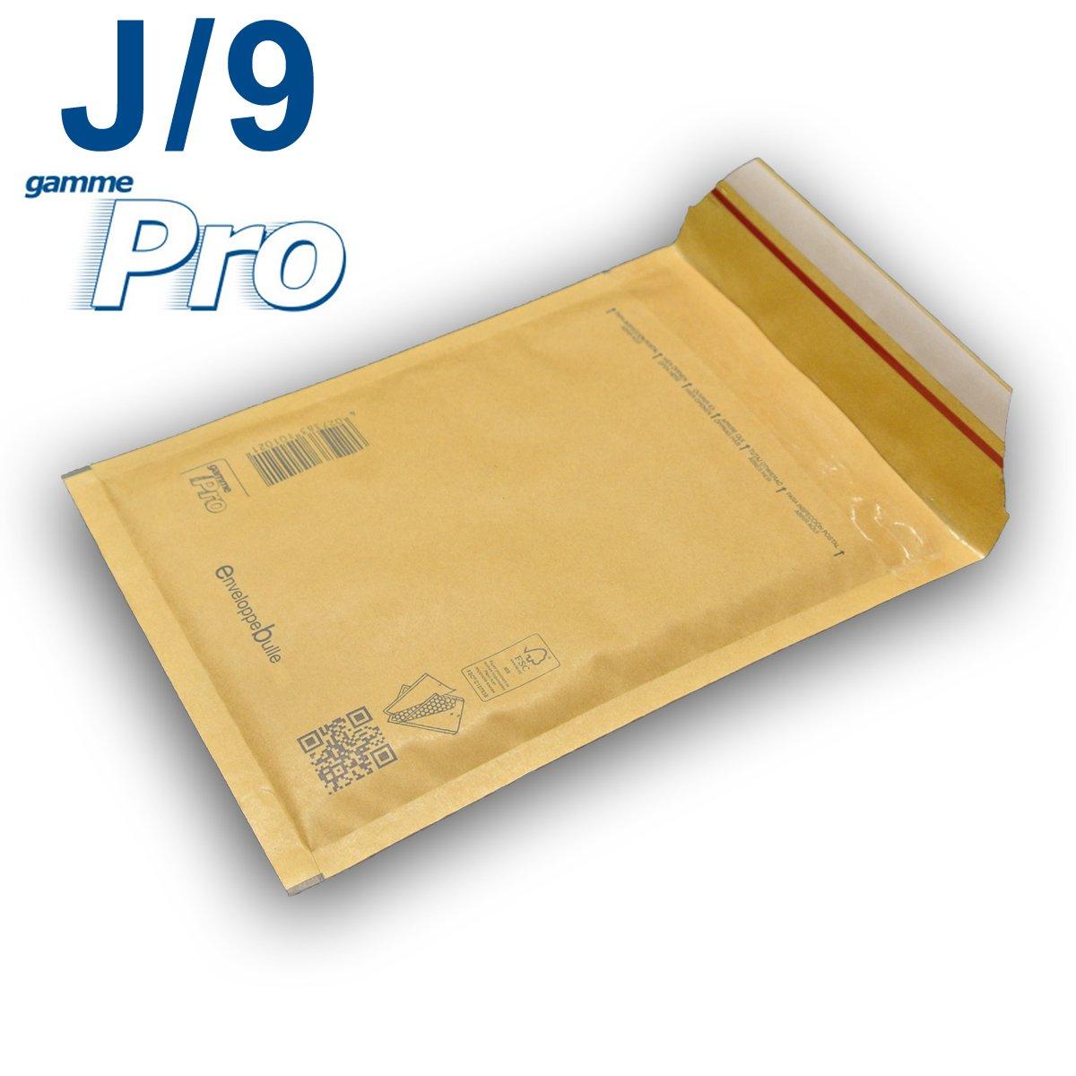 Lot de 10 enveloppes /à bulles *MARRON* gamme PRO J//9 format 290x445mm