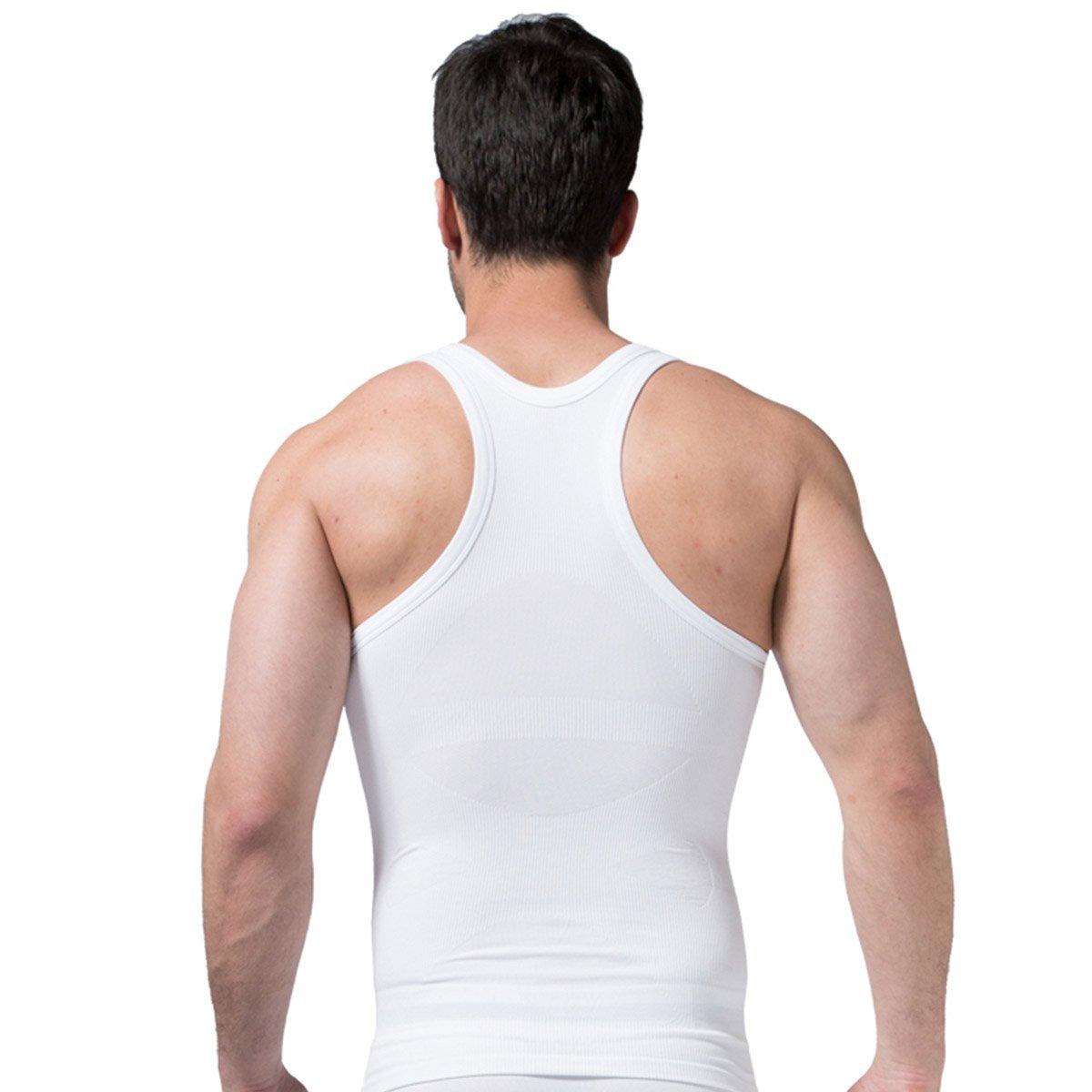 FEOYA - Chaleco Interior sin Costura con Faja Abdominal para Hombre  Reductora Adelgazante Suave Transpirable Absorción 4d8ea1ddef83
