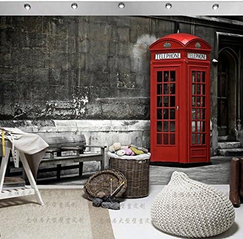 AQSGH Gran mural retro nostálgico bar cafetería wallpaper ciber café ropa tienda ventana papel tapiz cabina de teléfono, tejido patrón/cuadrado (empalme): Amazon.es: Bricolaje y herramientas