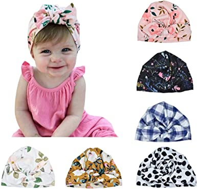 Bowknot Turban Baby Hat Caps Beanie Hat Hair Band Floral Hats For Kids Girls