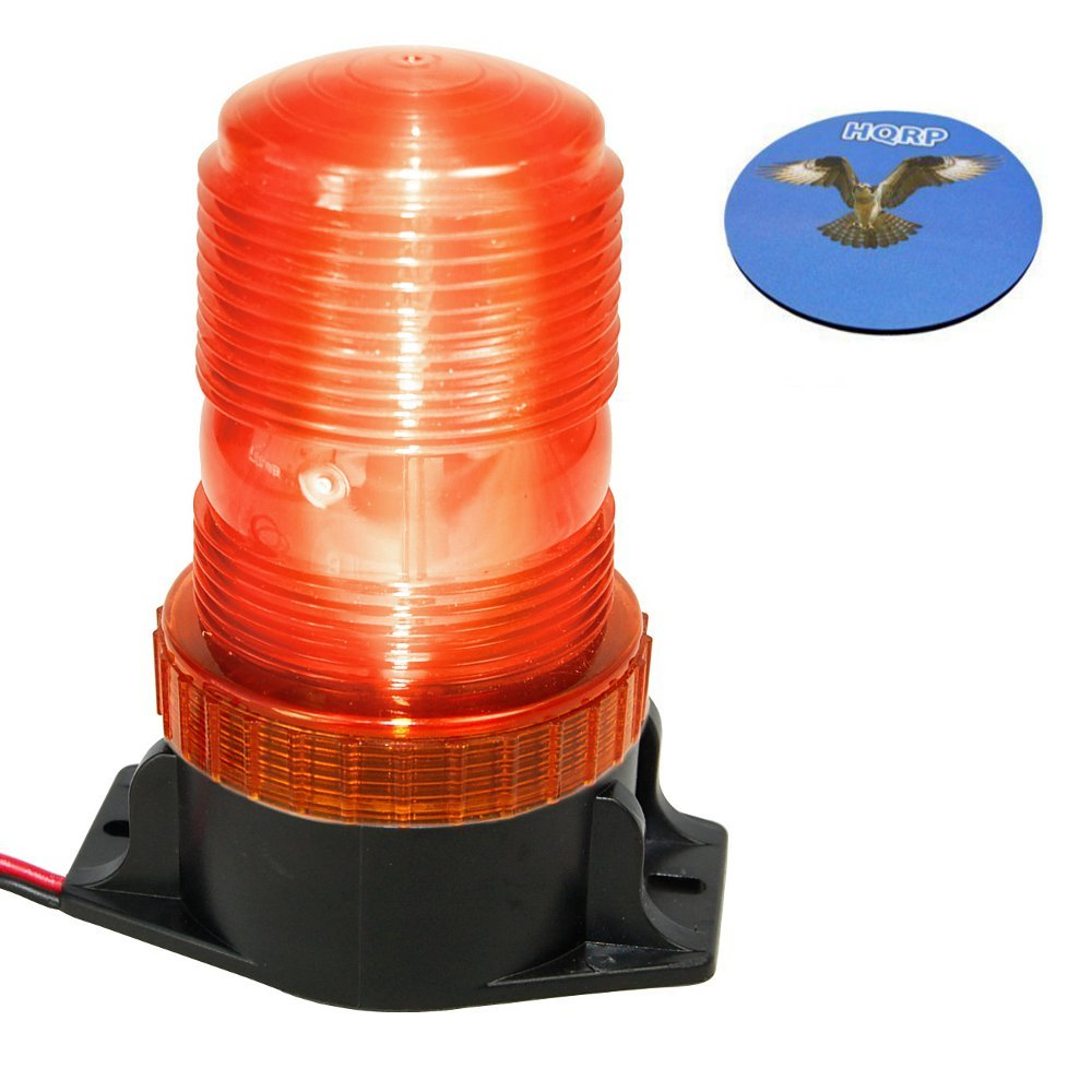 Hqrp 360 Degrees Mini Beacon Amber Warning Strobe Light Circuit For Cushion Forklift Hyster S30ft S35ft S40ft S40fts S50ct S50ft Plus
