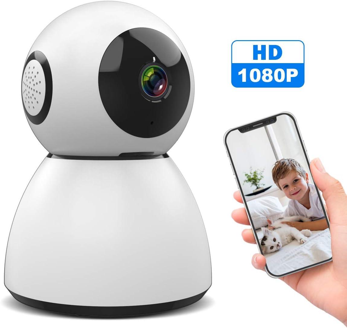 WLAN IP Kamera, SAWAKE 1080P HD WiFi Überwachungskamera innen mit ONVIF, Nachtsicht, 2 Wege Audio, Fernalarm, Bewegungserkennung, Mobile App Kontrolle