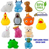 Ramakada Chu Chu Bath Toys for Baby Non-Toxic Toddler Set Multi Color (1set -12Pc)