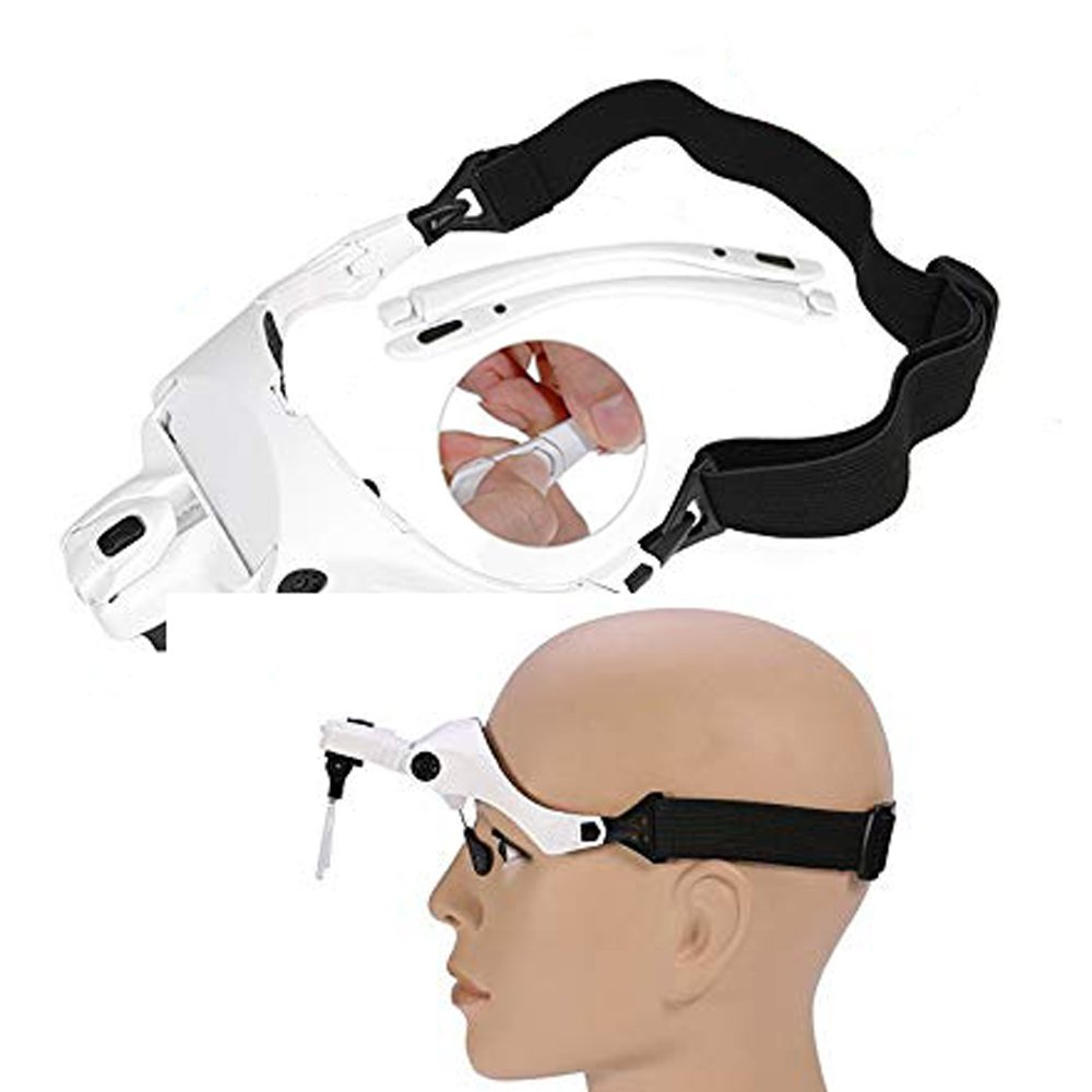 Lighted Headset Magnifying Glasses with lights Head Magnifier Loupe Headband for Close Work/Electronics/Eyelash/Crafts/Jewelry/Circuit Watch Repair,1.0X/1.5X/2.0X/2.5X/3.5X by MORDUEDDE (Image #5)