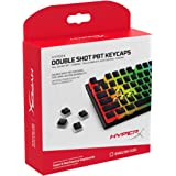 HyperX Double Shot PBT Keycaps - 104 Mechanical Keycap Set - Black & White Pudding - Durable - HyperX Mechanical Keyboard Compatible - OEM Profile - 2 Year Warranty (HXS-KBKC3)