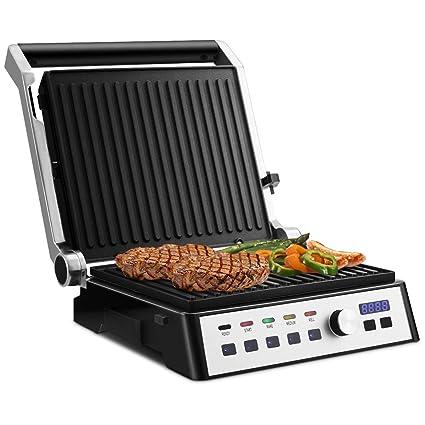 COSTWAY Parrilla Eléctrica 2000W Sandwich Plancha Panini ...