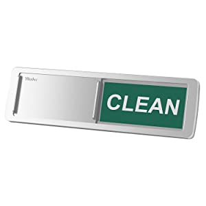 Premium Dishwasher Magnet Clean Dirty Sign, iRush Non-Scratching Backing / 3M Sticky Tab Adhesion, Sliding Indicator Works for Dishwashers, Reminder Tells Whether Dishes Are Clean or Dirty - Silver