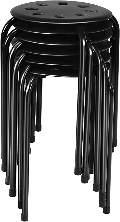 Stackable Stool With Metal Frame /& Plastic Seat See Description.