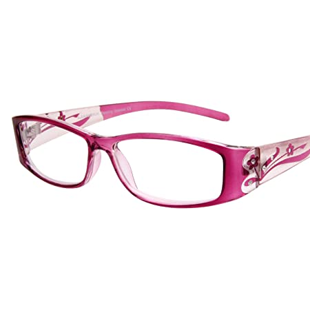 f15fc42d522b Amazon.com  LianSan 3 Pack Stylish Ladies Readers Cute Reading Glasses for Women  Pink Purple Red +2.75 Magnification  Health   Personal Care
