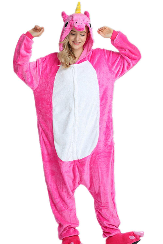 Kenmont Unicornio Juguetes y Juegos Animal Ropa de Dormir Cosplay Disfraces Pijamas para Adulto Niños (X-Large, Rosa): Amazon.es: Juguetes y juegos