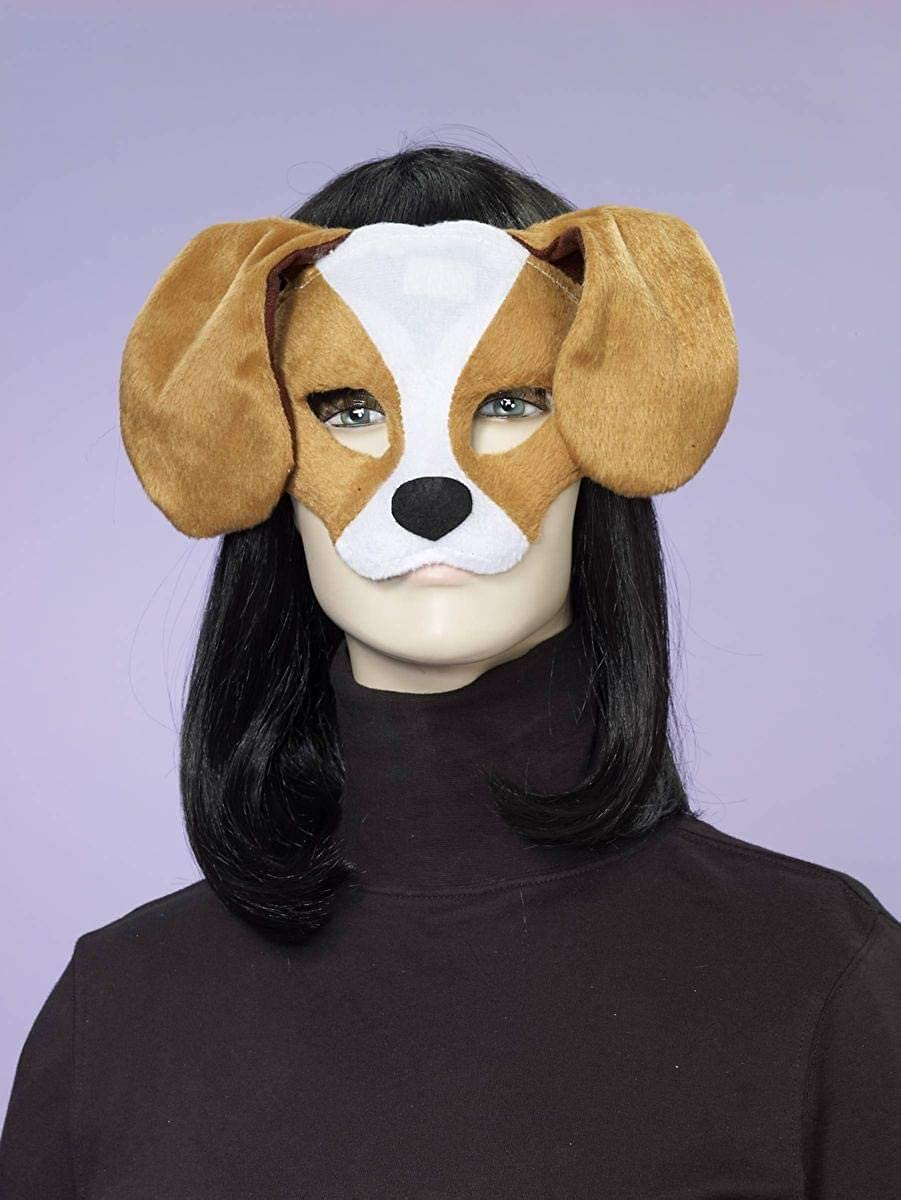 Forum Novelties Plush Dog Mask, Brown/White, One Size 70029