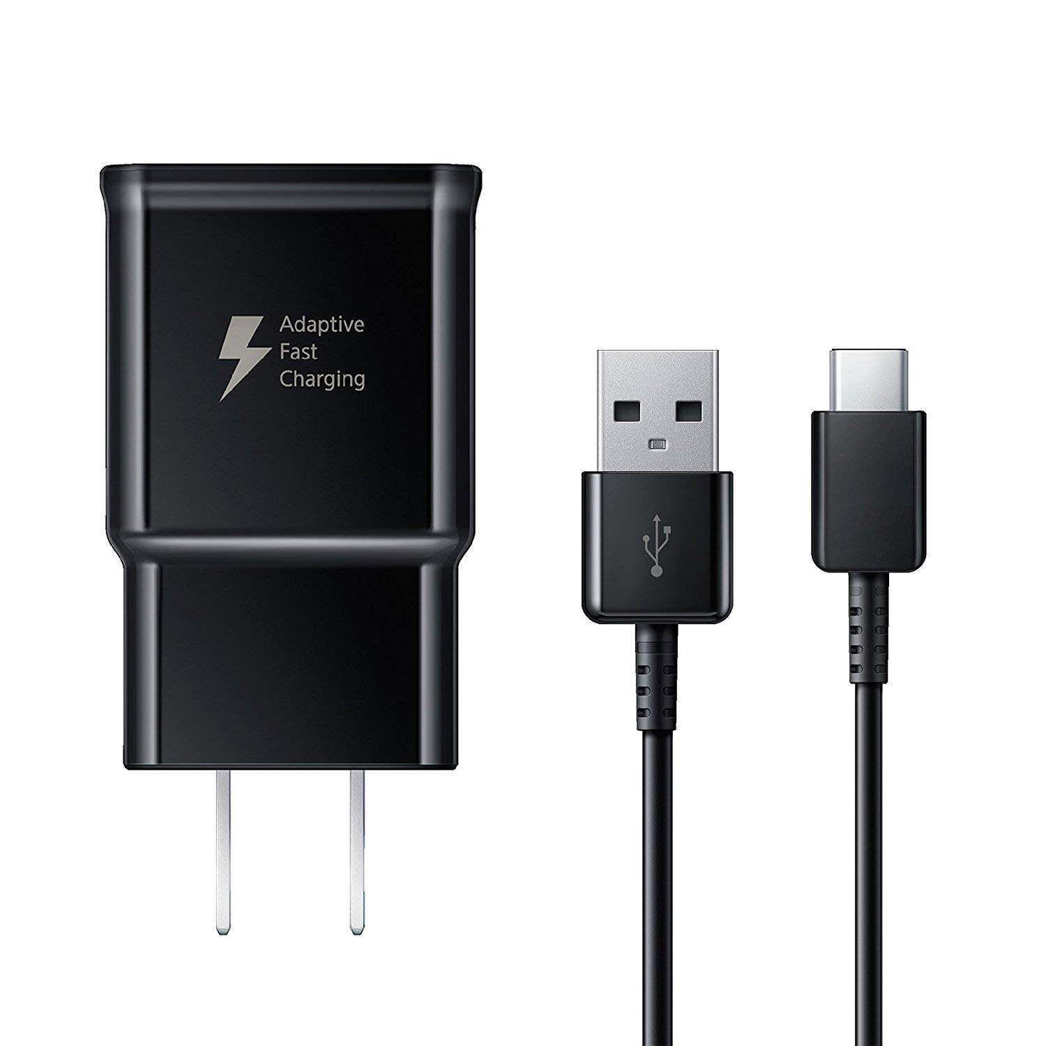 Samsung Fast Charger EP-TA20JBE and USB Type C Cable EP-DG950CBE for Galaxy S8