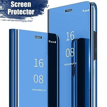 MadBee Funda Samsung Galaxy J5(2016) [Protector Pantalla], Fundas de Espejo Elegante Brillante Standing Flip Carcasa Cover Carcasa Funda Case para ...