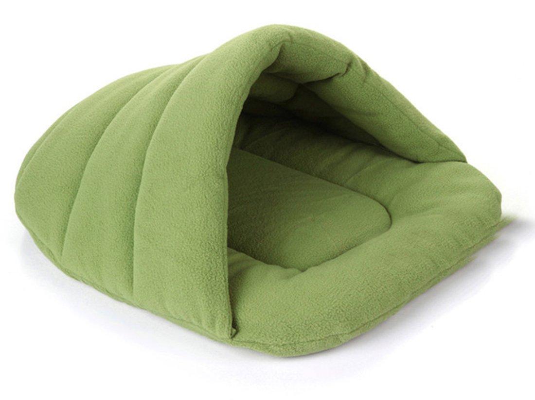 Green XL Green XL Pet Kennel Mat Cushion House Nest Blanket Warm Soft Dog Cat Bed Sleeping Bag (XL, Green)