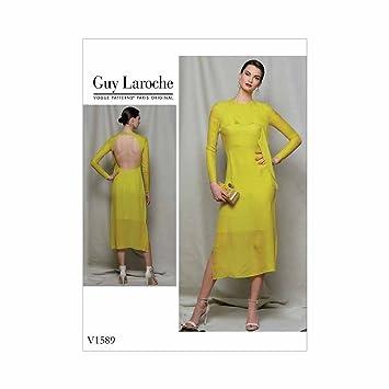 Vogue Guy Laroche rückenfreie Midi Kleid   Größe 6–14 Schnittmuster ...