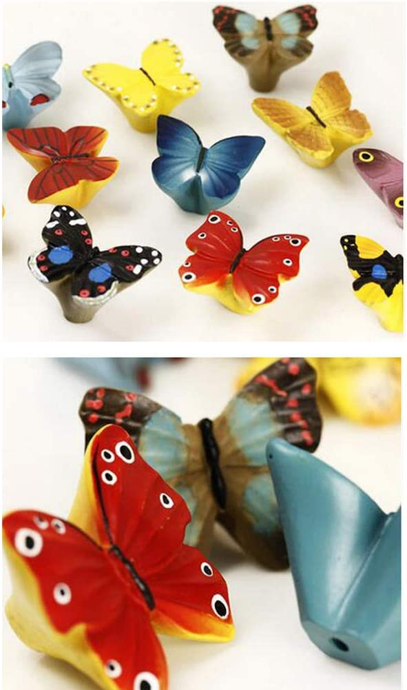 Kylin Express Pack Of 2 Beautiful Butterfly Cabinet Knobs Drawer