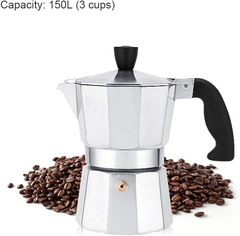 Yuciya Cafetera Exprés, Cafetera Moka Cafetera Exprés Cafetera Estilo Italiano Aluminio 150 / 300ml: Amazon.es: Hogar