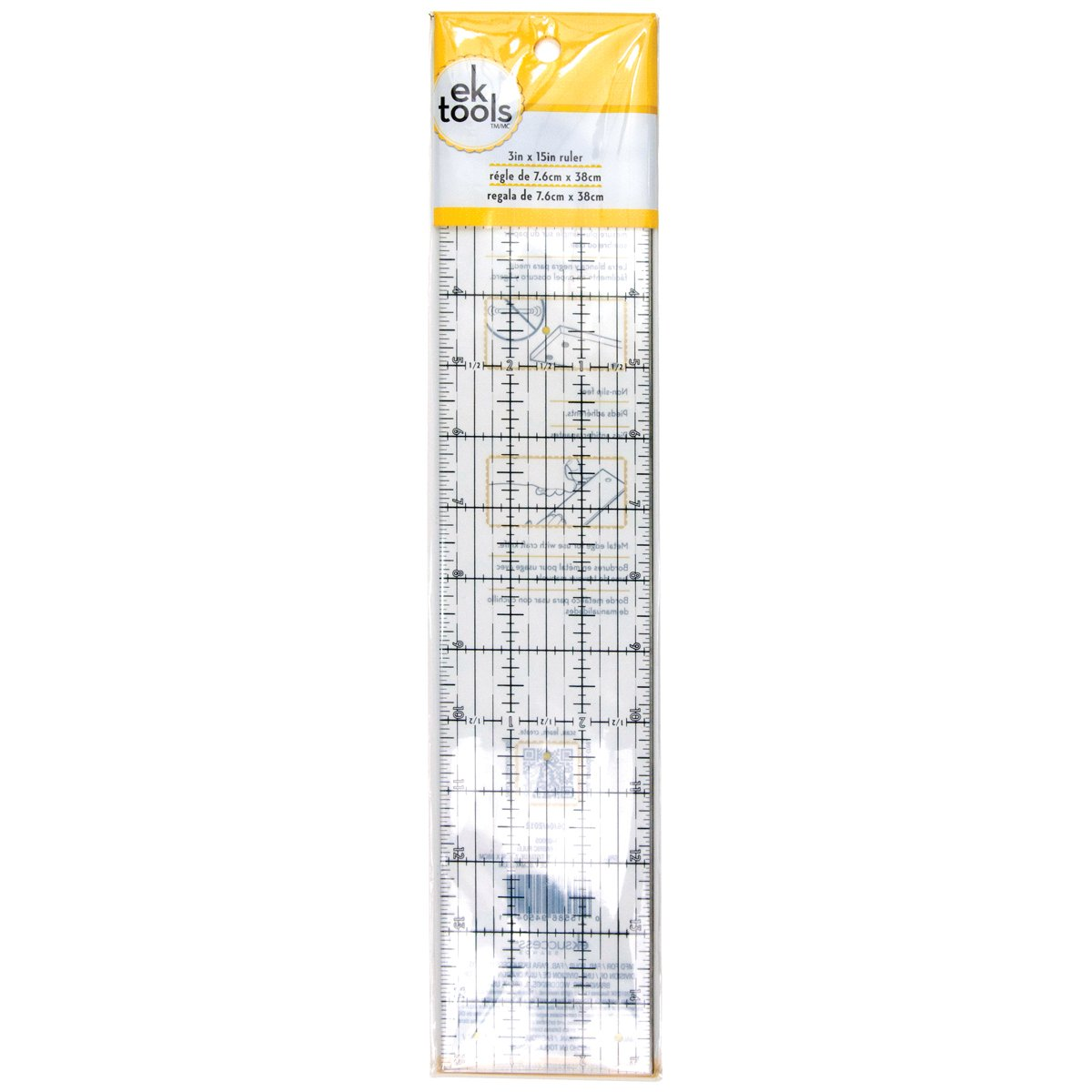 EK Tools Ruler, 3 by 15-Inch, New Package EKS 54-02005