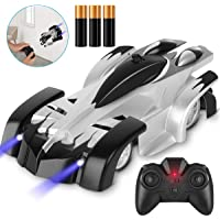 Desuccus Remote Control Car,Wall Climbing Toy RC Car for Kids,360°Rotating Stunt USB Rechargeable High Speed Race Vehicle LED for Boy Girl Gift