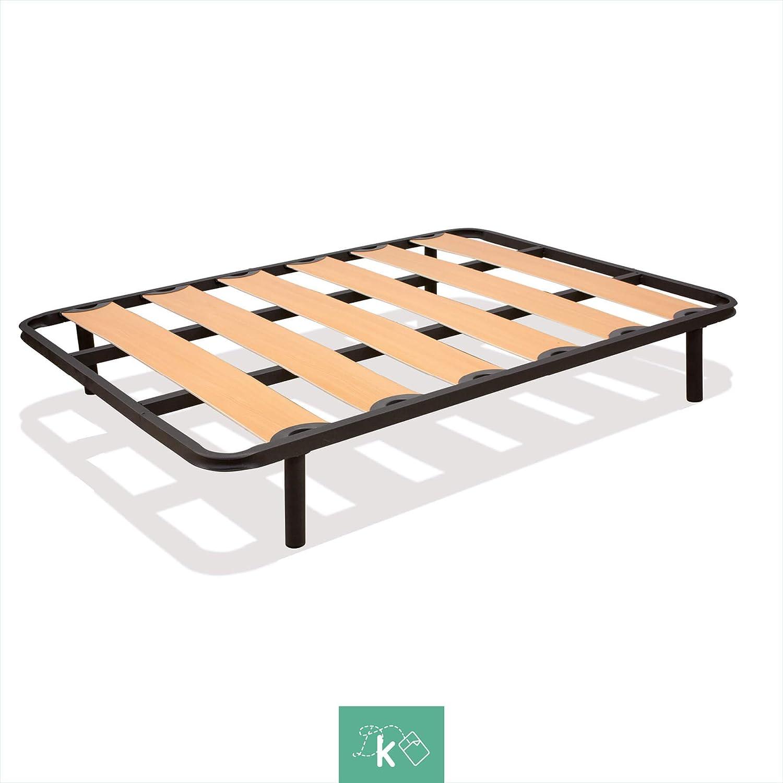 Dreaming Kamahaus Somier Neo |90 x 180 cm| Tubo 40x30 | Lámina de Haya | SIN Patas.