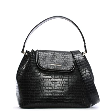b47e3ff9790e Emporio Armani Rita Black Reptile Shoulder Bag Black Reptile  Amazon ...