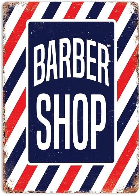 RABEAN Barber Shop Stripes Póster de Pared Aluminio Metal Creativo ...