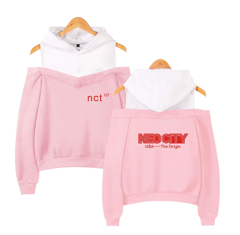 Xkpopfans Kpop NCT Hoodie Pullover JaeHyun Taeil TaeYong Off The Shoulder Sweatshirt Jacket