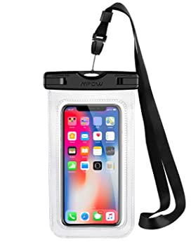 Funda Impermeable Movíl, Mpow Bolsa Impermeable Movil Transparente, 6.5in para iPhone XS/X/XR/8/8 Plus/Galaxy S10/S9/S8/Mate 20/P30/P20, IPX8 ...