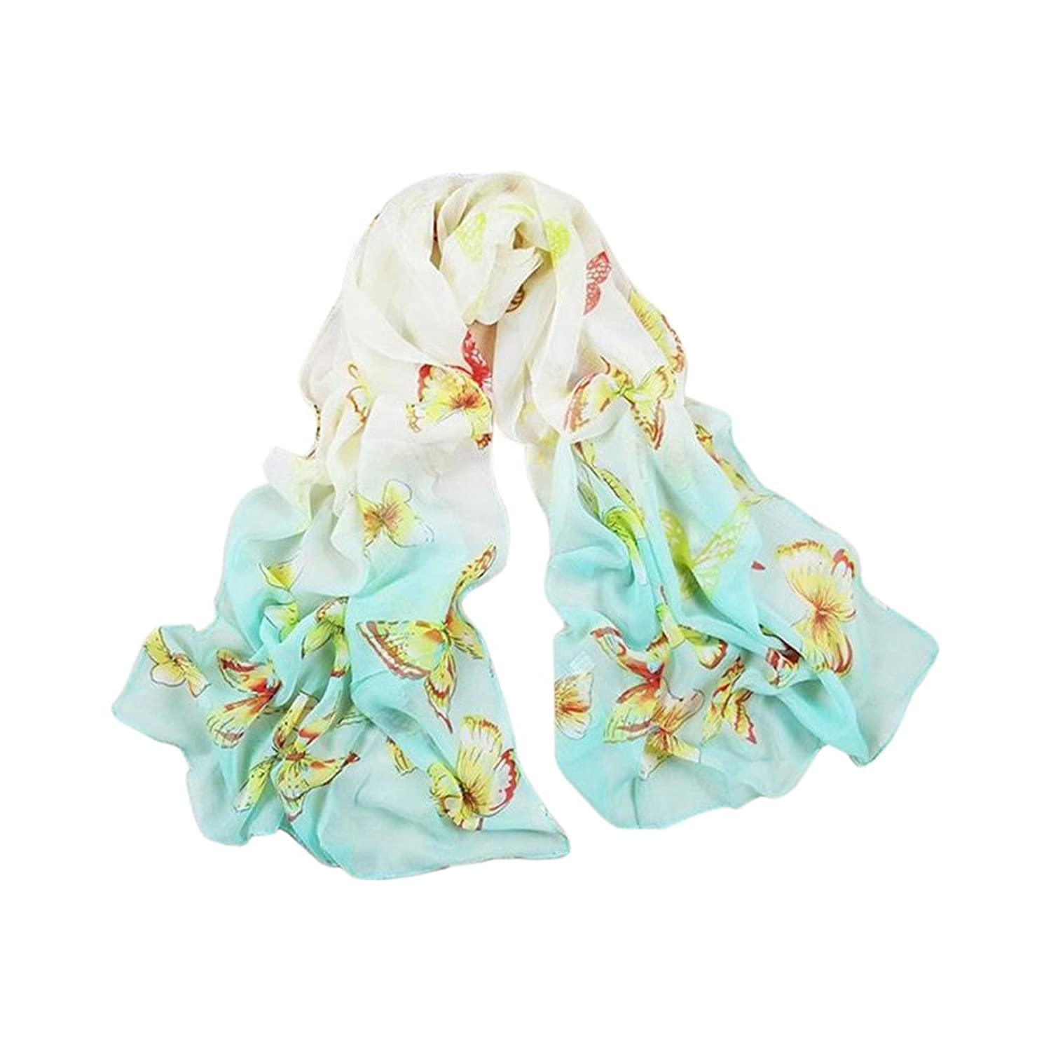 Hot!!New Lady Girls butterflies fluttering Soft Chiffon Scarf Wrap Shawl Stole