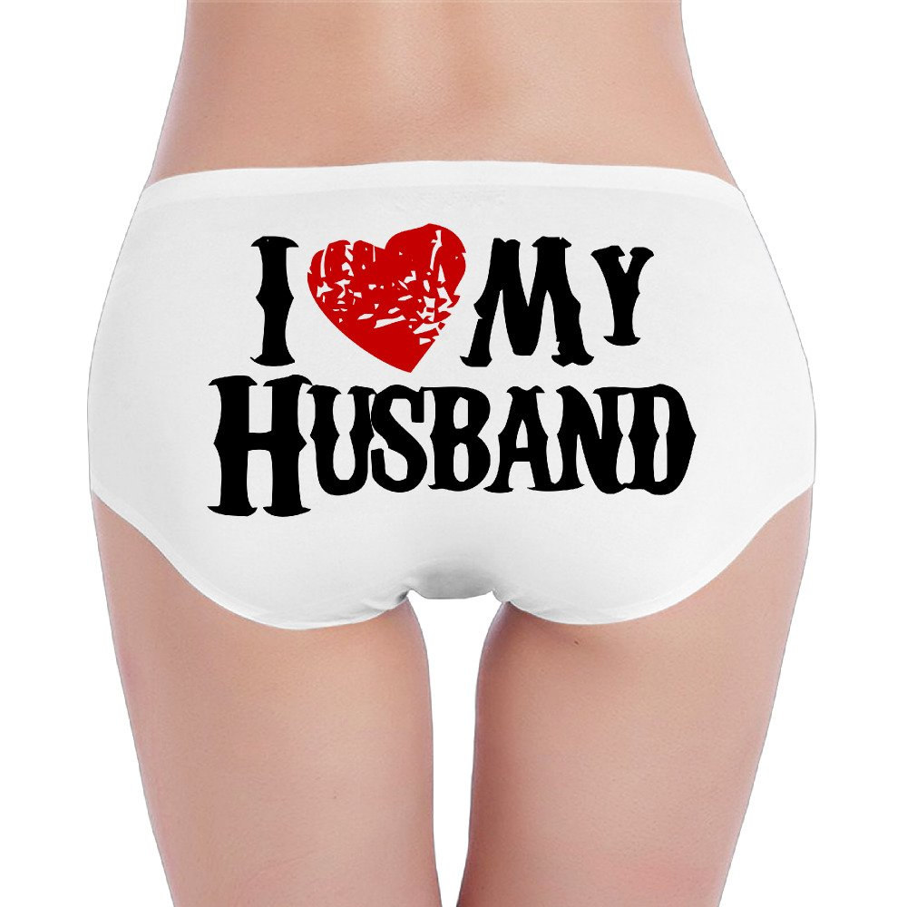 LDERD108 I Love My Husband Womens Underwear Graphic Low Waist Underpants