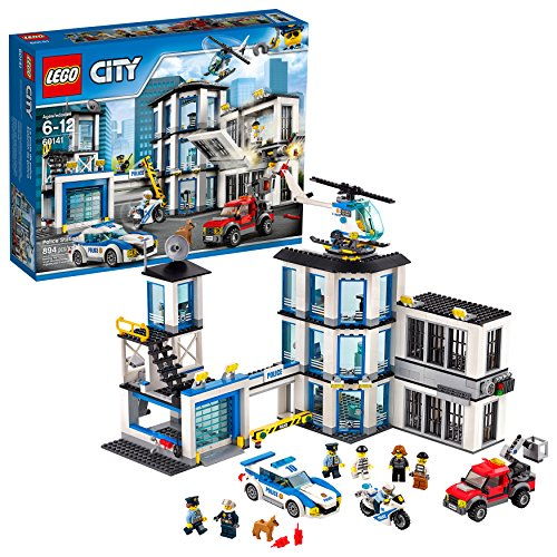 LEGO City Police Station 60141 Building Kit with Cop Car, Jail Cell, and Helicopter, Top Toy and Play Set for Boys and Girls (894 Pieces) (Lego City 7498 Best Price)