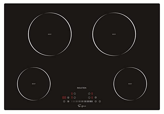 Empava 30u201d Electric Induction Cooktop Smooth Surface Black Tempered Glass  EMPV IDC30