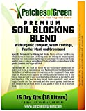 PREMIUM SOIL BLOCKING BLEND with Organic Compost, Worm Castings, Feather Meal, and Greensand - 16 Dry Quart Bag