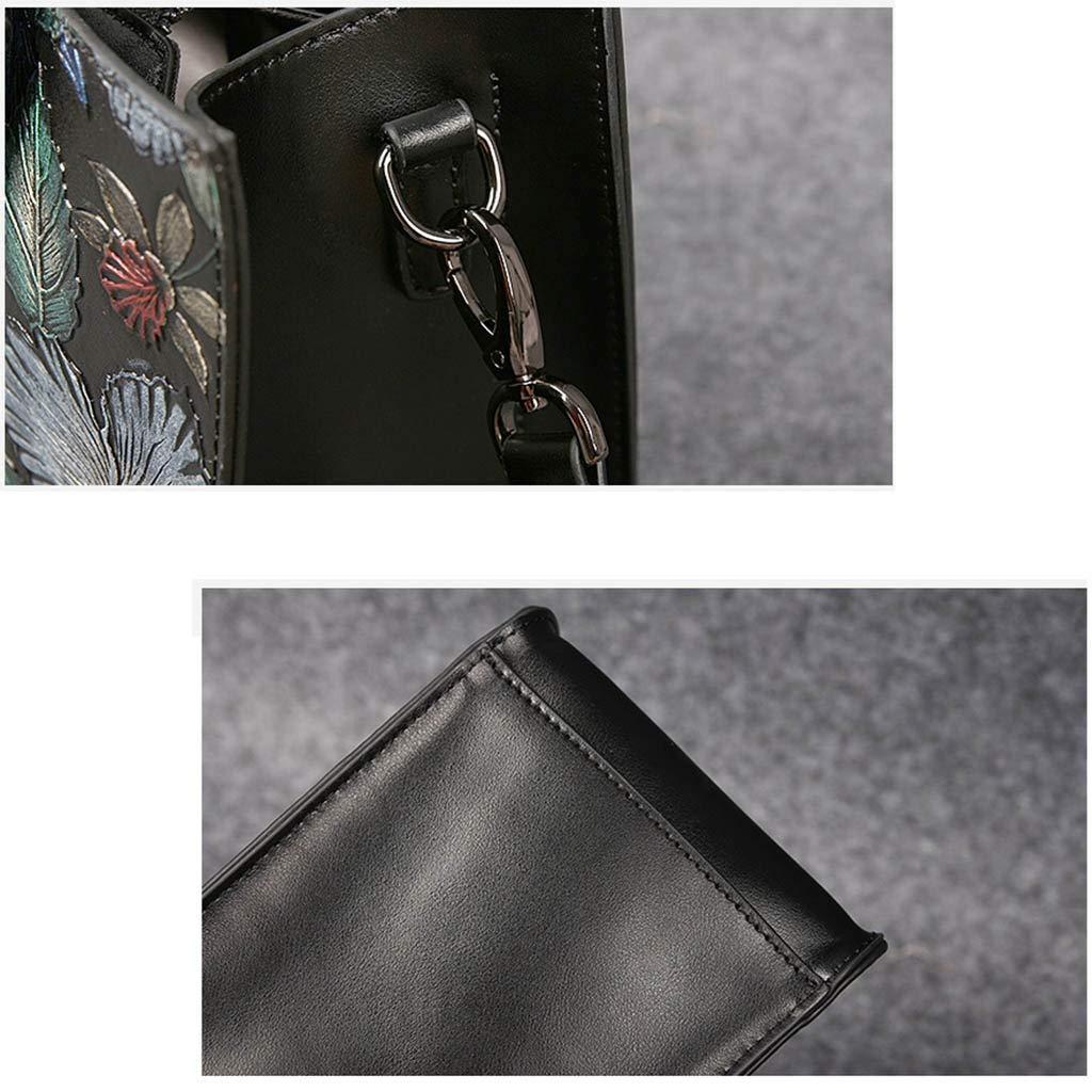 9b383269fdc47 ... DLTEY DLTEY DLTEY Vintage handgemalte Blaumen Diagonal Umhängetasche  Original Design Qualität Leder Handtasche Tote Bag B07PJ9WTZY