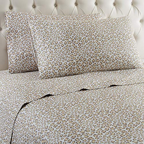 Thermee Micro Flannel Shavel Home Products Sheet Set, Safari, Queen (Renewed)