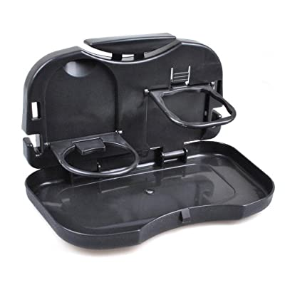 Keeping Universal Car SUV Truck Multifunction Folding Car Back Seat Baby Bottle Food Drink Cup Table Tray Holder (Black): Automotive