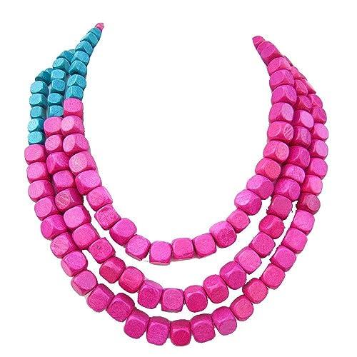 Aubergine Necklace Pink Statement Necklace Ombre Necklace Hot Pink Necklace Pink Ombre Necklace Pyrite Necklace Fuchsia Necklace
