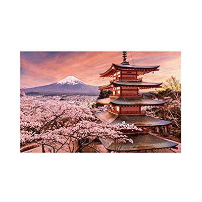 Jigsaw Puzzles 500 Pieces for Adults Large Piece, Pagoda Game Large Format Puzzles Puzzle Play Brain Teasers for Teens, Educational Games Toys Birthday Gift Preschool Puzzles for Kids: Toys & Games