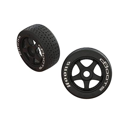 ARRMA Dboots Hoons 42/100 2.9 Belted Rc Tires with Foam Inserts, Mounted On 5-Spoke Black Wheels (Set of 2): ARA55062: Toys & Games [5Bkhe1804495]