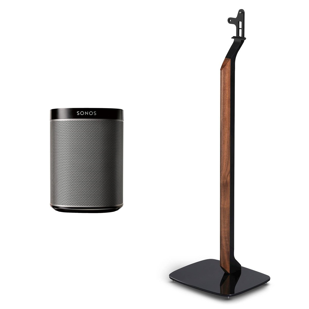 Sonos PLAY:1 All-In-One Wireless Music Speaker with Flexson Premium Floor Stand (Black)