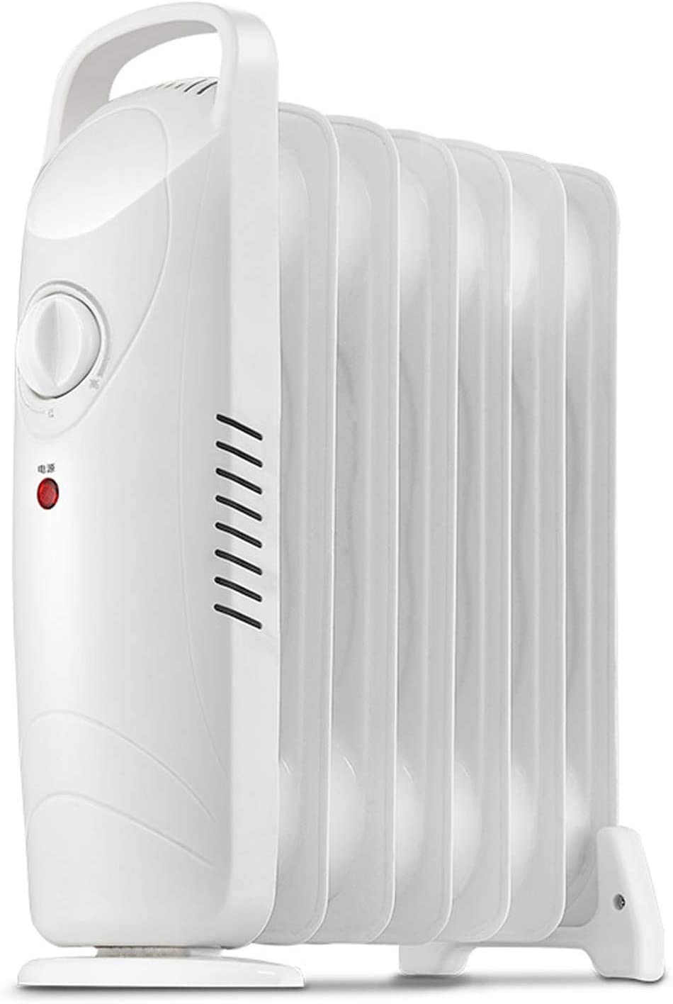 Byjia Electric Oil Heater, 700W Mini Space Heater, Oil-Filled Radiator with Adjustable Thermostat, Overheat Protection, Energy Saving Quiet Portable Oil Heater for Home