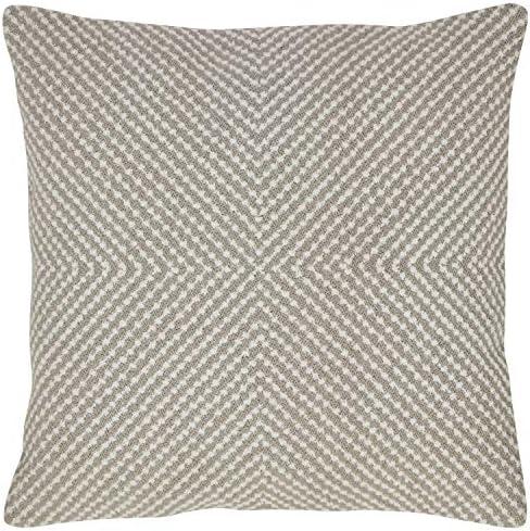 Amazon Brand Rivet Modern Texture Throw Pillow – 18 x 18 Inch, Grey