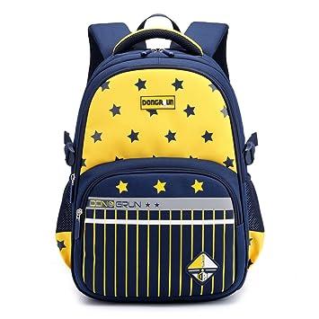 f791b4bb20 Amazon.com  Primary School Backpack Ideal for 1-6 Grade School Students  Boys Girls Daily Use Waterproof Nylon Kids Schoolbag Yellow  Teman Store